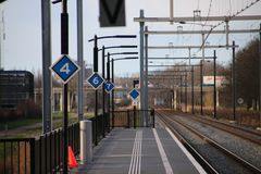 - New railwaystation will be used from now on named Zoetermeer Lansingerland with later on also light rail randstadrail on first. Railwaystation will be used royalty free stock photos