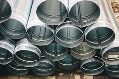 The New Rain Water Draining Metal Downpipe Stock Images