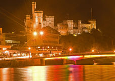 New Rainbow Bridge and Castle. Royalty Free Stock Photography