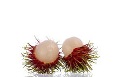 New rambutan. Fresh Rambutan on white background royalty free stock image