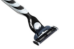 New razor on a white background Royalty Free Stock Images