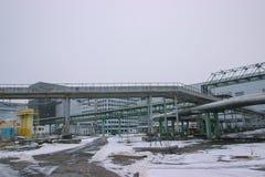 New reactor shelter at Chernobyl, Ukraine. New big reactor shelter at Chernobyl, Ukraine Stock Images