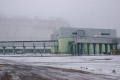 New reactor shelter at Chernobyl, Ukraine. New big reactor shelter at Chernobyl, Ukraine Royalty Free Stock Image
