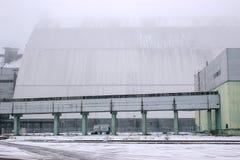 New reactor shelter at Chernobyl, Ukraine. New big reactor shelter at Chernobyl, Ukraine Royalty Free Stock Photography