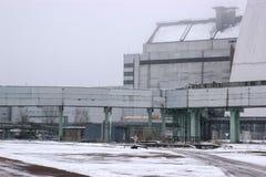 New reactor shelter at Chernobyl, Ukraine. New big reactor shelter at Chernobyl, Ukraine Royalty Free Stock Photo