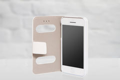 New realistic mobile phone smartphone iphon style royalty free stock photography
