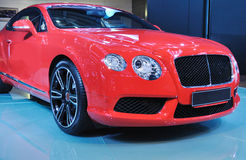New red bently. New red luxury bently  car Royalty Free Stock Images
