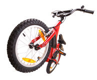 New red bicycle on white Royalty Free Stock Photo