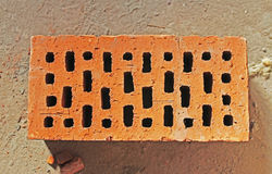 New red brick in construction Royalty Free Stock Photo