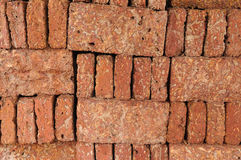 New red brick pile prepare for construction. Royalty Free Stock Images