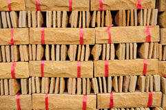New red brick pile prepare for construction. Stock Photos