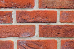 New Red Brick Wall Background. Architectural Background Detail of a New Red Brick Wall Stock Image