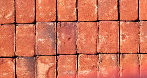 New red bricks background. Royalty Free Stock Image
