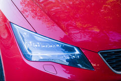 New red car headlights Royalty Free Stock Photography