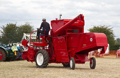 New red combine harvester Royalty Free Stock Image