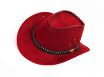 New Red Cowboy Hat. Isolated on white background Royalty Free Stock Images