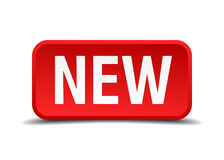 New red 3d square button Royalty Free Stock Photo