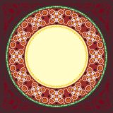 New 2015 red decoratif islamic circular border Stock Images