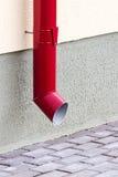 New red drainpipe Stock Photo