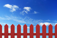 New red fence Stock Images