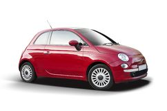 New red Fiat 500 stock image