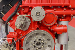 New red internal combustion engine close-up Royalty Free Stock Photography