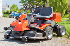 New Red Lawnmowers Stock Photos