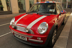 New Red Mini Cooper Royalty Free Stock Photography