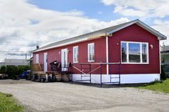 New red mobile home Stock Photo