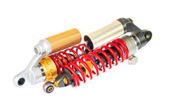 New red motorcycle suspension Royalty Free Stock Photos