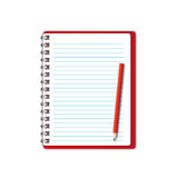 New Red notebook Royalty Free Stock Images