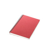 New red notebook isolated on white Royalty Free Stock Photos