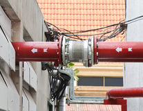 New red pipe Royalty Free Stock Photos