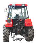 New red powerful tractor isolated over white Royalty Free Stock Photography