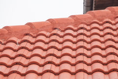 New red roof with tiles Stock Photo