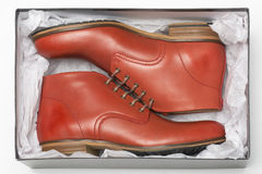 New red shoes in box Royalty Free Stock Photography