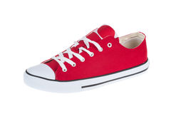 New red sneaker isolated on white Royalty Free Stock Images