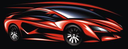 New red sport car design made be me Stock Photo