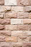 New red stone wall closeup Royalty Free Stock Photography