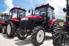 New red tractor Stock Images