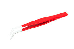 New red tweezers Royalty Free Stock Image