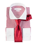 The new red and white striped shirt Stock Images