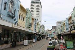 New Regent Street pedestrian mall, Christchurch NZ stock image