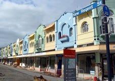 New Regent Street Renovation in Christchurch, New Zealand stock photo
