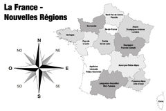New regions of France - final version Royalty Free Stock Photo