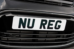 New registration plate Stock Photos