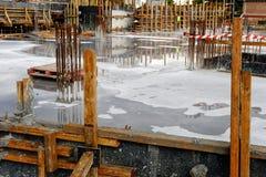 New Reinforced Concrete Pour Stock Images