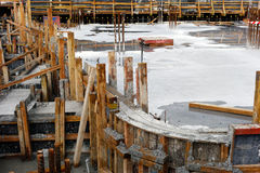 New Reinforced Concrete Pour Royalty Free Stock Photo