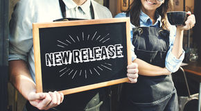 New Release Latest Brand Update Concept. New Release Latest Brand Update royalty free stock photo