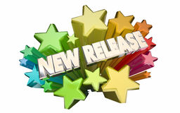 New Release Movie Trailer Product Update Advertise Stars Stock Image